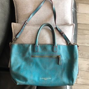 Liebeskind Berlin Turquoise large tote crossbody